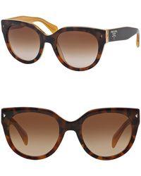 Prada - Women's 54mm Cat Eye Sunglasses - Lyst