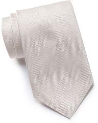 Thomas Pink Altar Plain Silk Tie - White