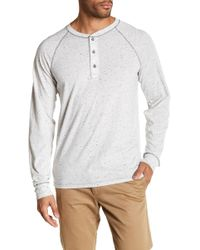 AG Jeans - Quarter Button Down Crew Neck Tee - Lyst