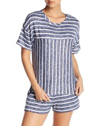 Kensie - Pajama Stripe Knit Sleep Tee - Lyst