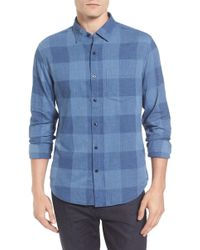 Bonobos - Slim Fit Check Brushed Twill Sport Shirt - Lyst