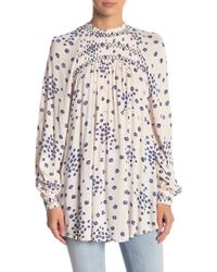 Free People - Flowers In Her Hair Smock Detail Tunic Top - Lyst