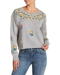 Lucky Brand - Floral Gardens Sweatshirt - Lyst