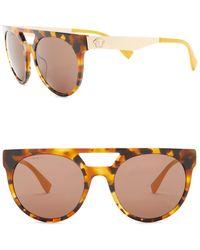 Versace 55mm Round Sunglasses