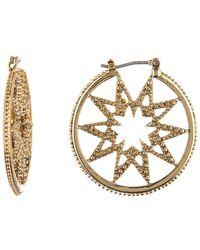 Marchesa - Star Click Hoop Earrings - Lyst