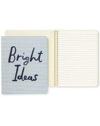 Kate Spade - Bright Ideas Seersucker Concealed Spiral Notebook - Lyst