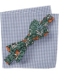 Original Penguin - Madden Botanical Bow Tie & Pocket Square Set - Lyst