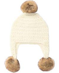 Michael Kors - Faux Fur Trimmed Crochet Trapper Hat - Lyst