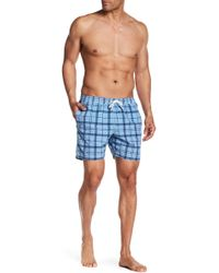 Barbour - North Sea Plaid Swim Shorts - Lyst