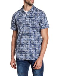 Xray Jeans - Patterned Short Sleeve Slim Fit Shirt - Lyst