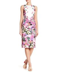 Maggy London - Floral Patterned Sheath Dress - Lyst