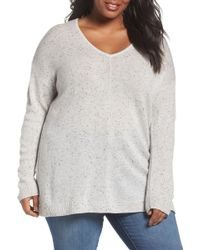 Sejour - Easy V-neck Wool & Cashmere Pullover - Lyst