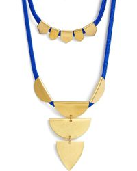 Sandy Hyun - Double Layer Pendant Necklace - Lyst