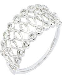 Bony Levy - Monaco 18k White Gold Bezel Set Diamond Caged Wide Band Ring - Size 7 - 0.27 Ctw - Lyst