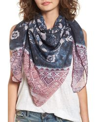 Treasure & Bond - Paisley Blocks Square Scarf - Lyst