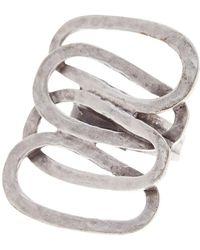 TMRW STUDIO - Antique Silver Plated Pewter Metal Work Adjustable Ring - Lyst