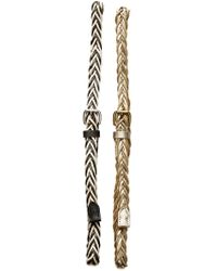 Linea Pelle - 2-for-1 Braided Cord Belts - Lyst
