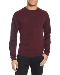 Calibrate | Boiled Wool Blend Crewneck Sweater | Lyst