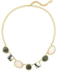 Cole Haan - Semi-precious Stone & Pave Crystal Necklace - Lyst