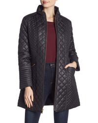Via Spiga - Quilted Long Line Coat - Lyst