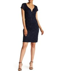 Connected Apparel - Lace Sparkle Occasion Dress - Lyst