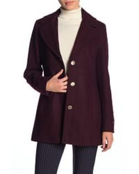 Tommy Hilfiger - Wool Blend Coat - Lyst