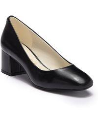 Anne Klein - Whisp Leather Block Heel Pump - Lyst
