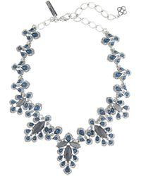 Oscar de la Renta - Swarovski Crystal Accent Parlor Necklace - Lyst