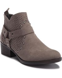 0951b19c4148 Dirty Laundry - Wallis Suede Perforated Ankle Bootie - Lyst