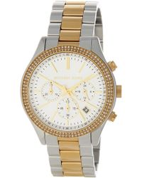 2cc495c49d9f MICHAEL Michael Kors - Michael Kors  slim Runway  Crystal Bezel Chronograph  Bracelet Watch