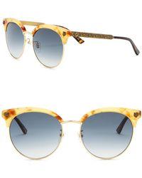 a4ab05e444 Gucci - 56mm Clubmaster Sunglasses - Lyst