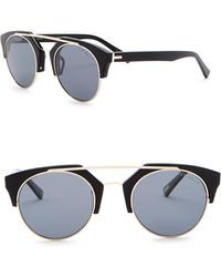 0b8fbb1b0d Ted Baker - 50mm Clubmaster Polarized Metal Frame Sunglasses - Lyst