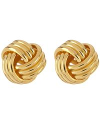Argento Vivo - 18k Gold Plated Sterling Silver Love Knot Stud Earrings - Lyst