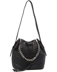 Steve Madden - Marge Chevron Quilted Drawstring Bag - Lyst
