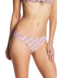 Helen Jon - Shirred Side Printed Bikini Bottoms - Lyst