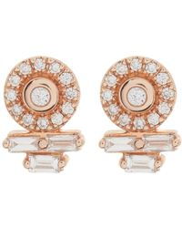 4a953aa7b Dana Rebecca - 14k Rose Gold Lauren Joy Diamond Stud Earrings - 0.23 Ctw -  Lyst