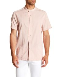 Kenneth Cole - Blocker Short Sleeve Regular Fit Shirt - Lyst