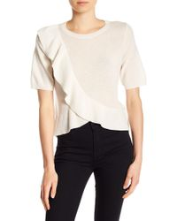 Joie - Jayni Cashmere Ruffled Tee - Lyst