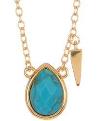 Melinda Maria - Jacob Turquoise Charm Necklace - Lyst