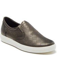 Ecco - Soft 7 Slip-on Leather Sneaker - Lyst