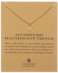 Dogeared - 14k Yellow Gold Vermeil 'accomplish Magnificent Things' Hashtag Pendant Necklace - Lyst