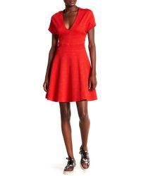 Opening Ceremony - V-neck Short Sleeve Textured Knit Dress - Lyst