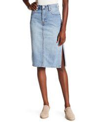 Levi's - Side Slit Skirt - Lyst
