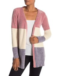 Love By Design - Colorblock Chenille Cardigan - Lyst