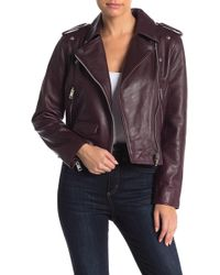 Walter Baker - Liz Lamb Leather Jacket - Lyst