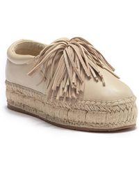 eaf8bb0d3fdd J Slides - Raoul Fringe Platform Slip-on Sneaker - Lyst