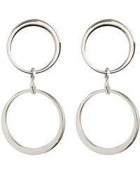 Vince Camuto - Double Hoop Drop Earrings - Lyst