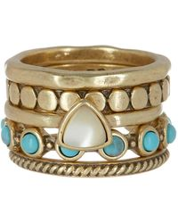 Lucky Brand - Stone Stacked Ring Set - Lyst