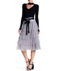 Do+Be Collection - Layered Mesh Maxi Skirt - Lyst