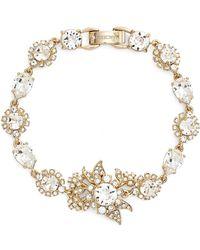 Marchesa - Goldtone White Metal Cluster Bracelet - Lyst